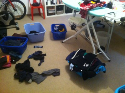 Wäsche Großfamilie