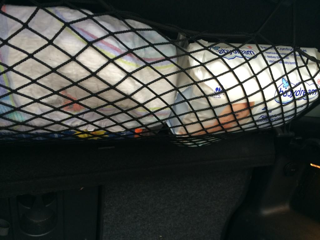 Kofferaumdeckelnetz VW Golf Plus