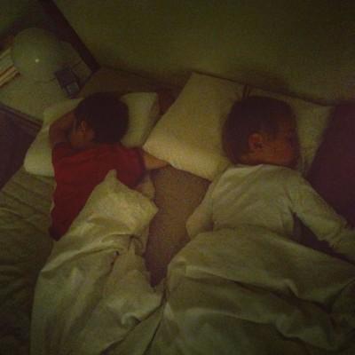 schlafende Kinder