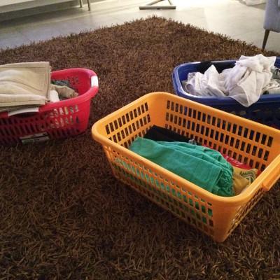 Leider bleibt mir auch heute die Wäsche nicht erspart