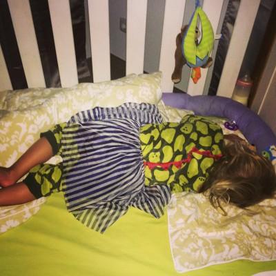 Schlafen im Kleid