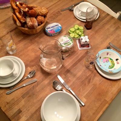 Und um 19.00 Uhr ist dann endlich das Abendessen angerichtet