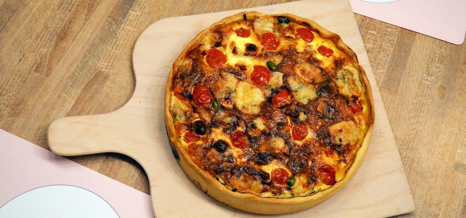 Rezept: Spinat-Gorgonzola-Quiche