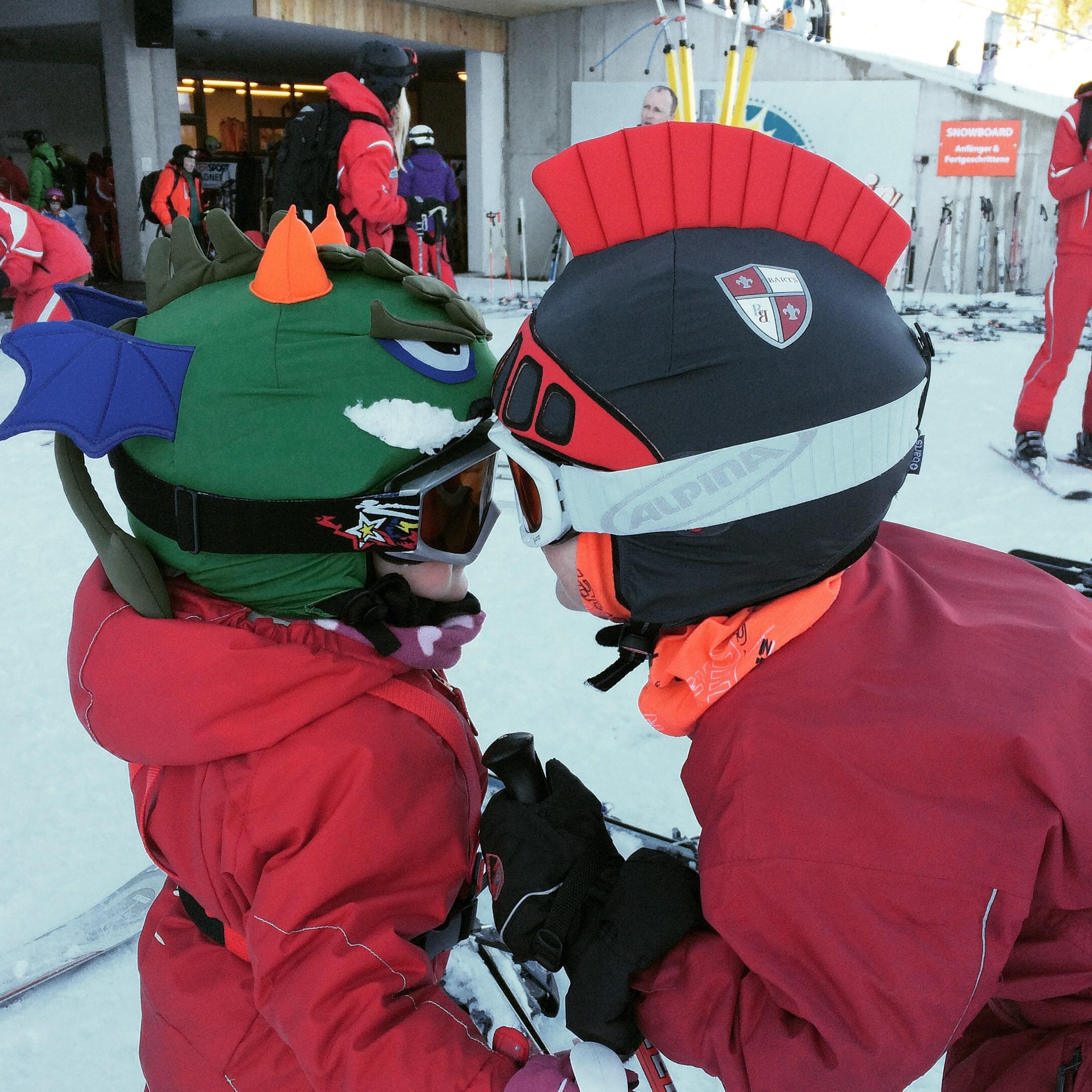 Unser Skiritter und Skidrache