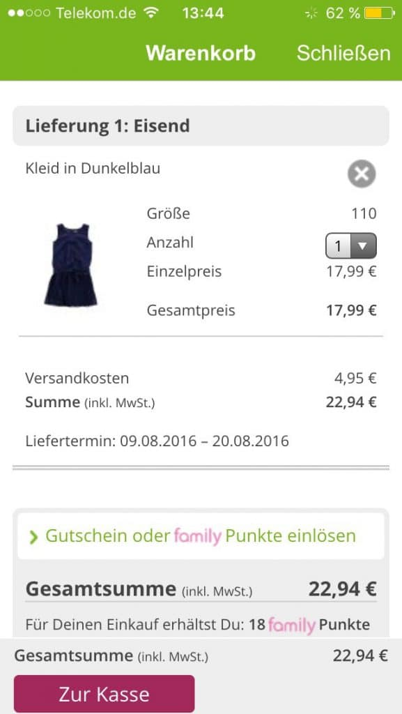 Kleier für Mädchen online Shoppen unterwegs