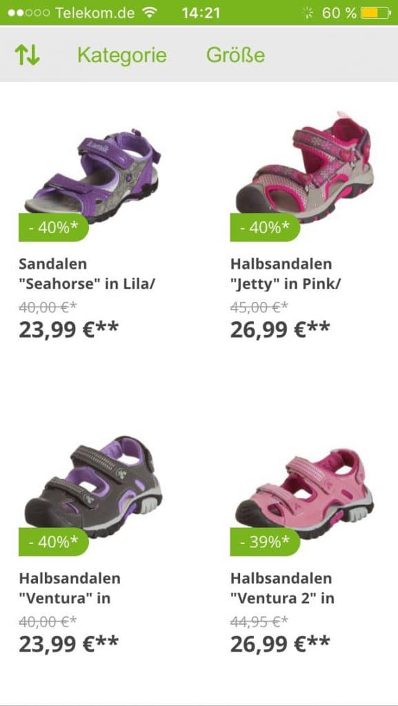 Online Shoppen für Kinder