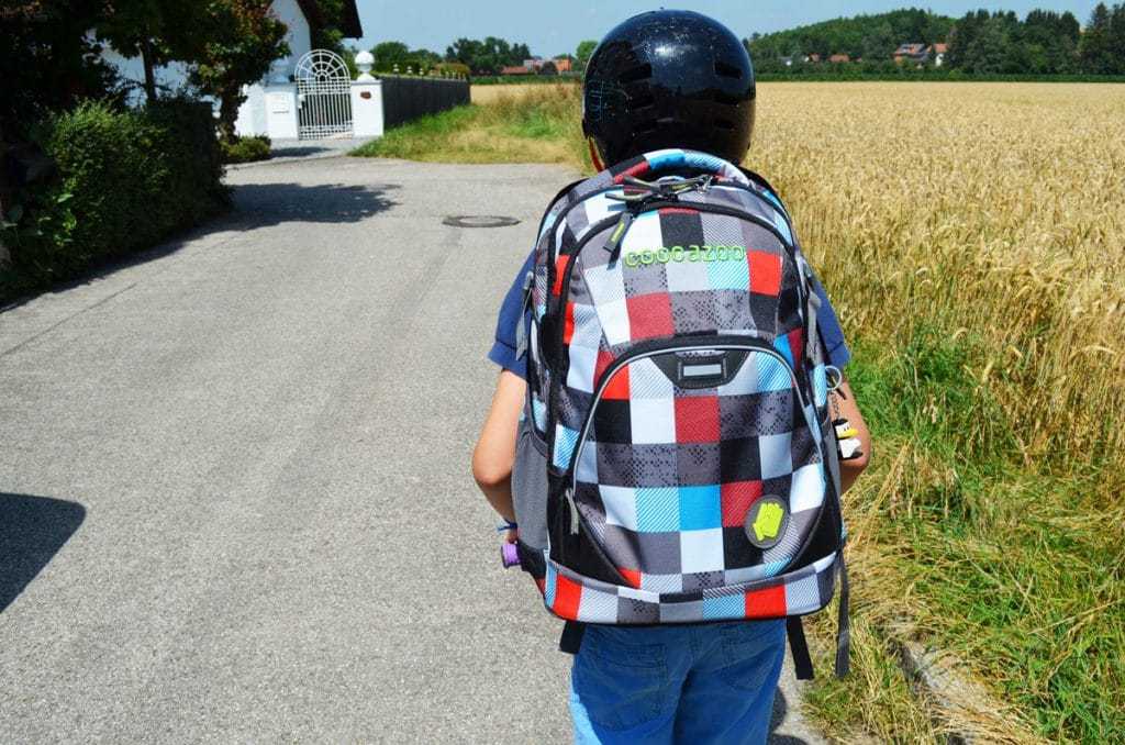 Schulweg in der Grundschule