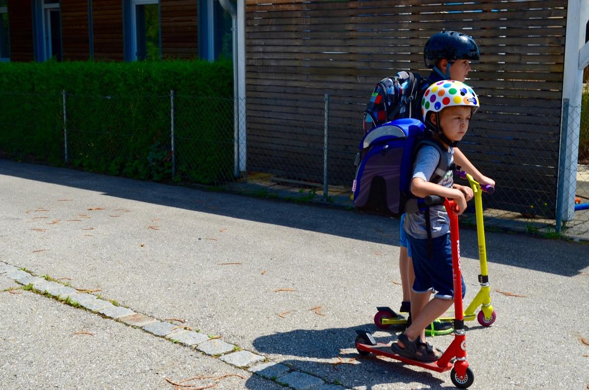 Roller für den Schulweg
