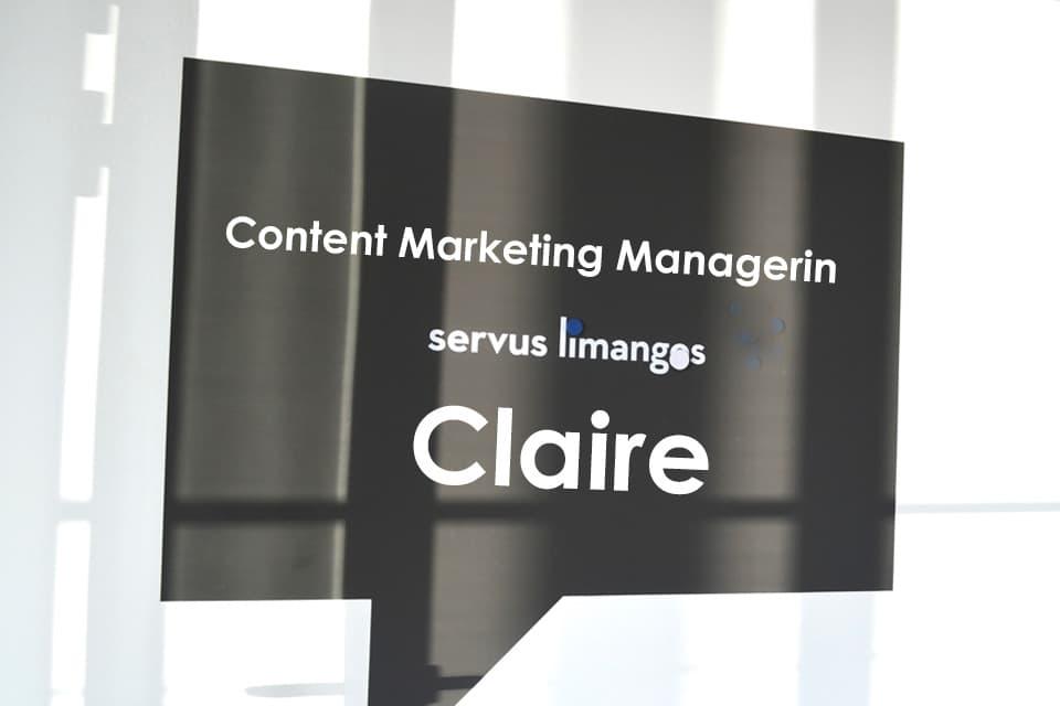 Claire: Content Marketing Managerin mit Leib und Seele