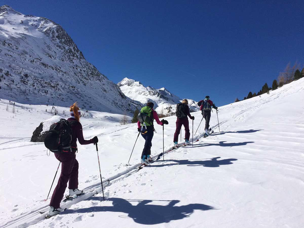 Aufstieg Tourengehen Staller Sattel
