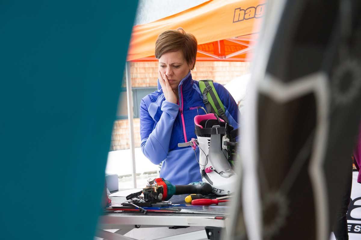 Tourengeh Skifitting mit Dynastar
