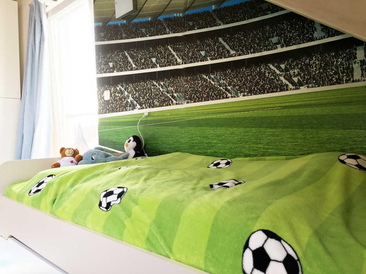 Kinderzimmergestaltung Ein Fussballzimmer Fur Den Mittleren Die Anderl