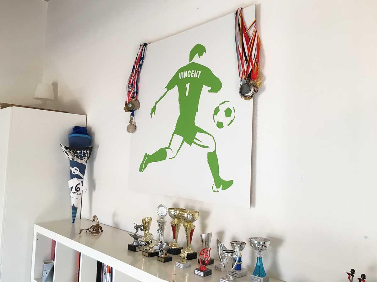Fusballzimmer - Wandtattoo personalisiert