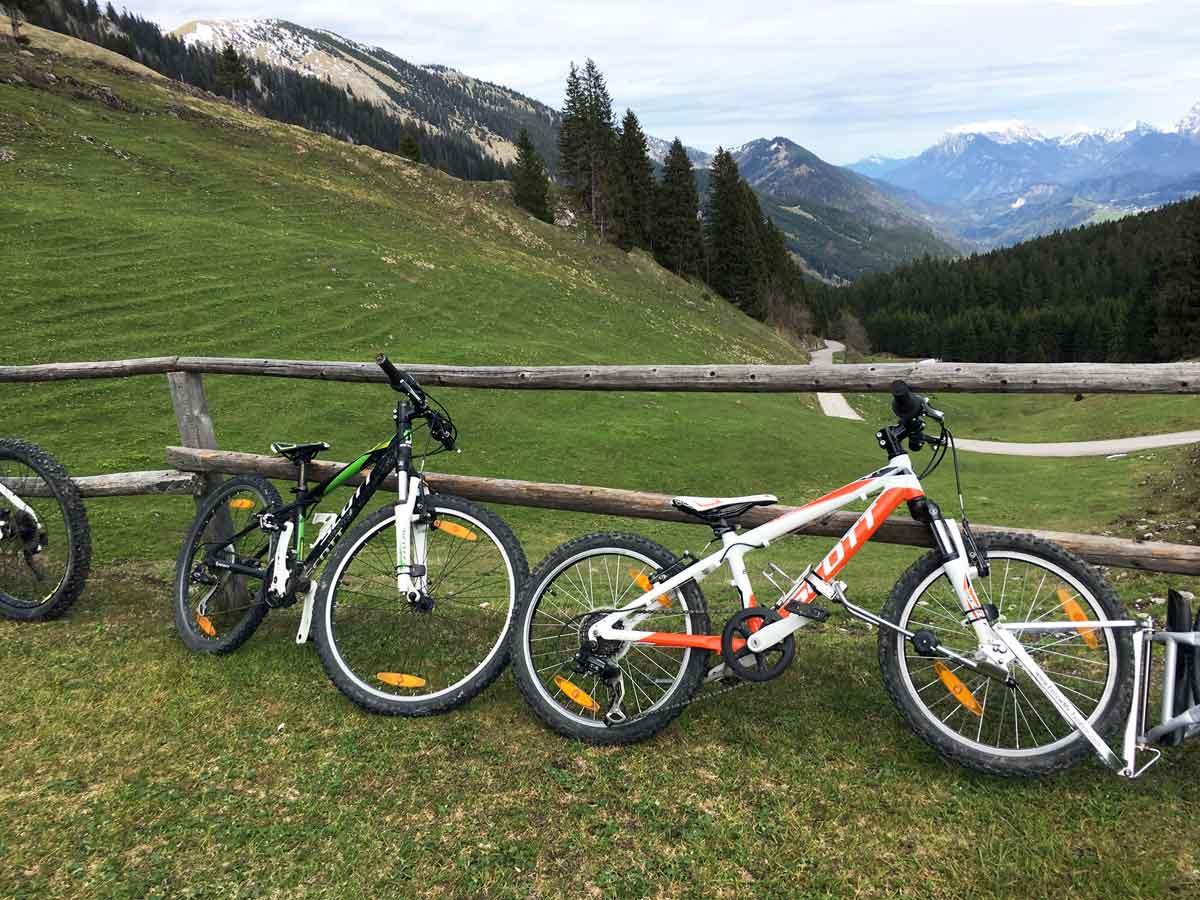 Mountainbiketour mit Kindern in Bayerischzell