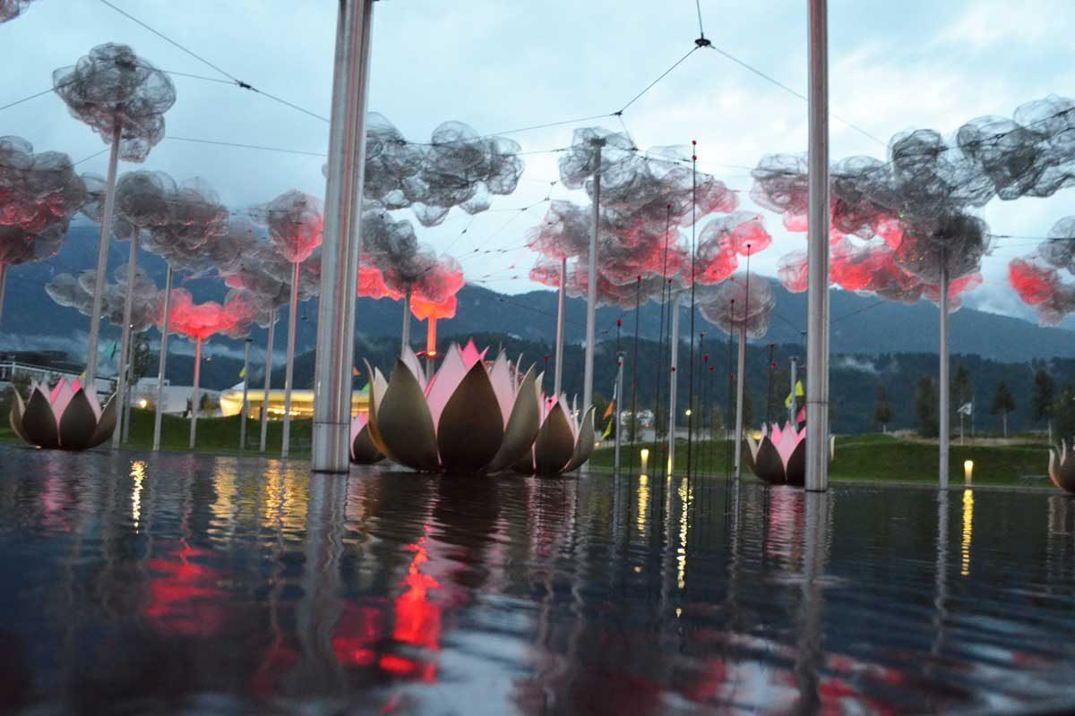 Der See der Swarowski Kristallwelten