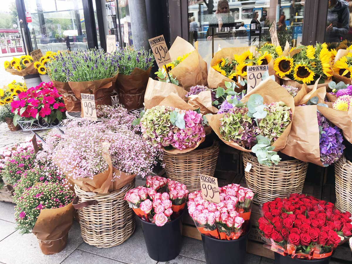 Blumen kaufen in Schweden